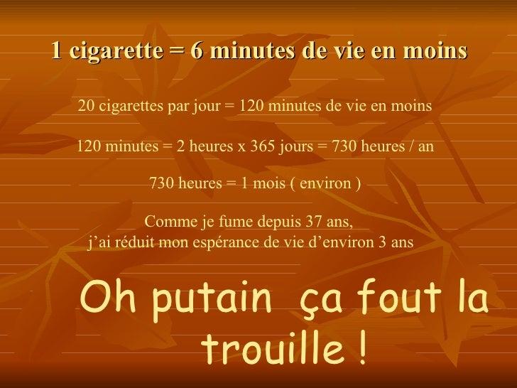 Si on peut rudement cesser de fumer dans 50 ans