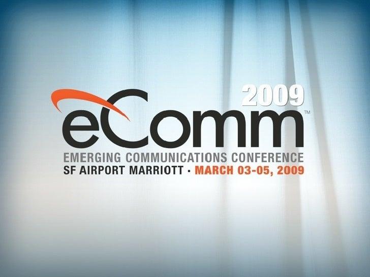 Mark Spencer's Presentation at eComm 2009