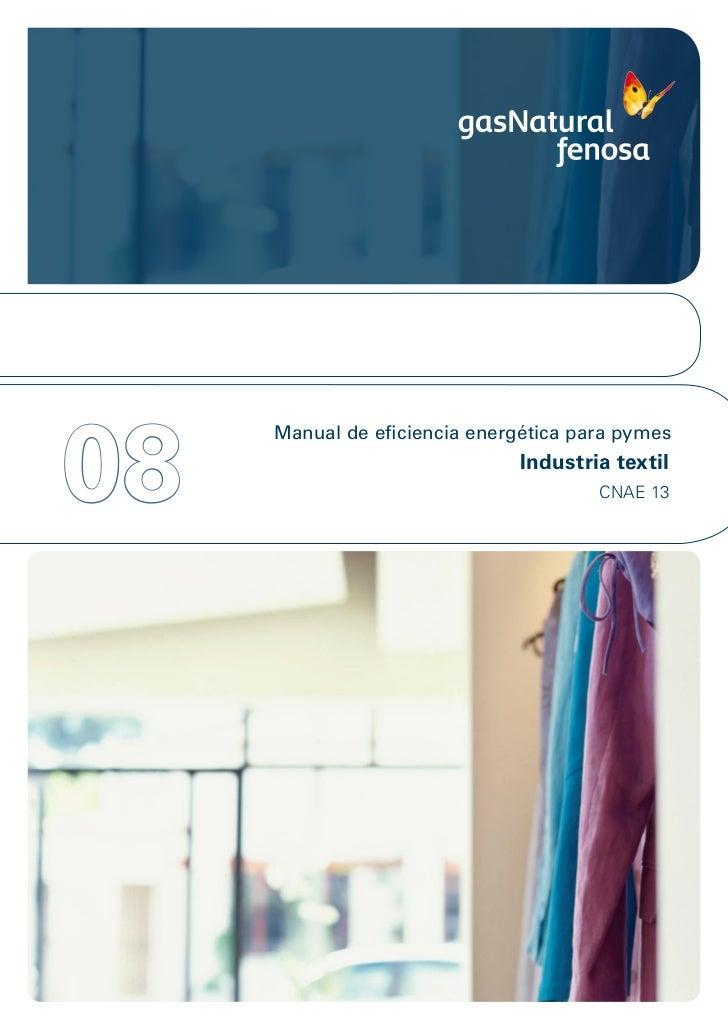 08     Manual de eficiencia energética para pymes                               Industria textil                          ...