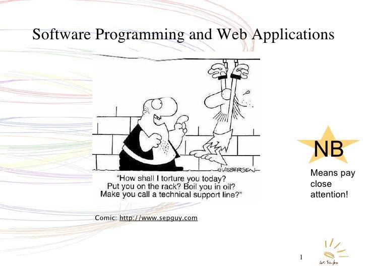 Software Programming and Web Applications                                                NB                               ...