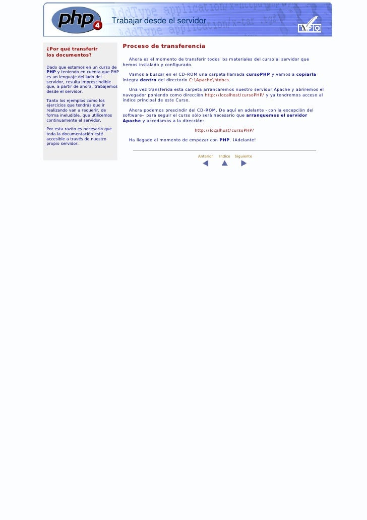 Trabajar desde el servidor   ¿Por qué transferir                                    Proceso de transferencia los documento...