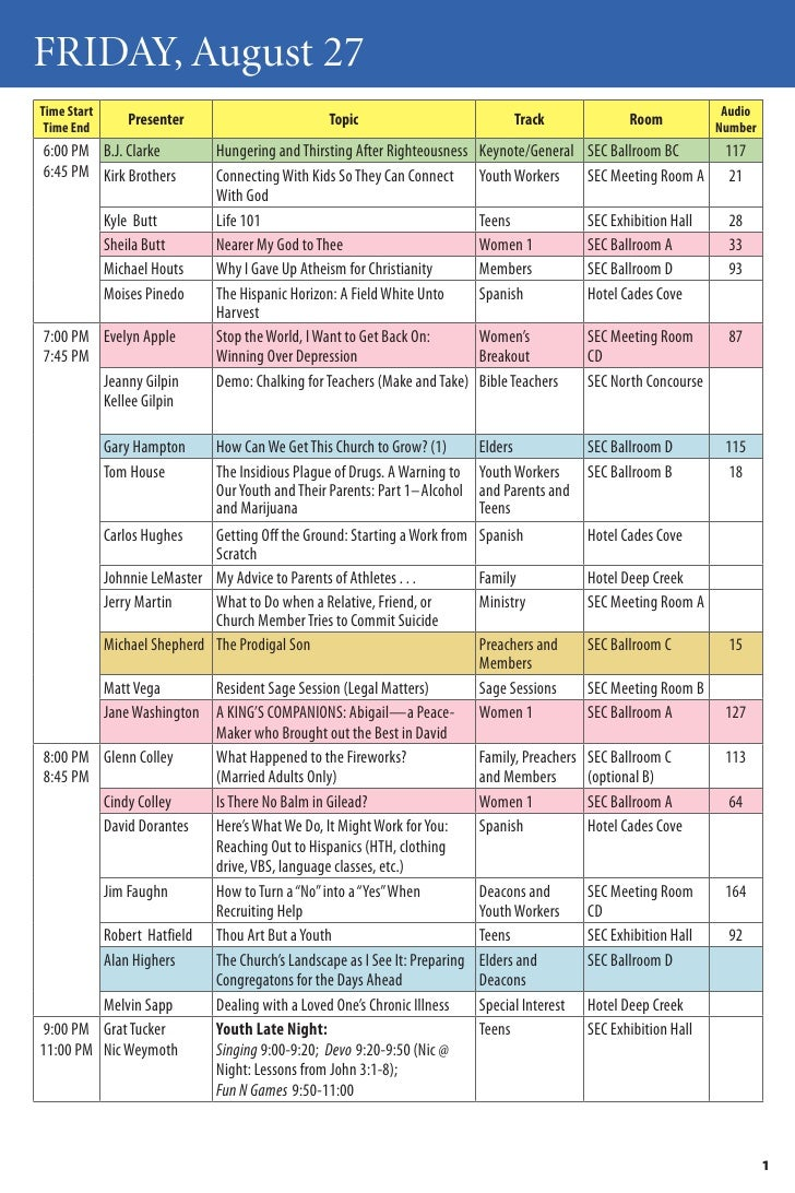 Polishing the Pulpit 2010 Schedule Final