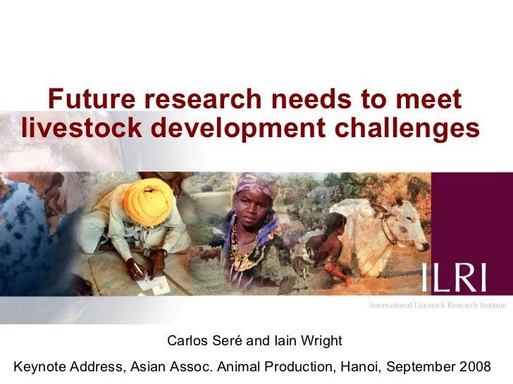 Future research needs to meet livestock development challenges