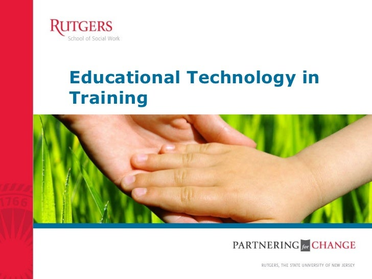 Educational Technology in Training