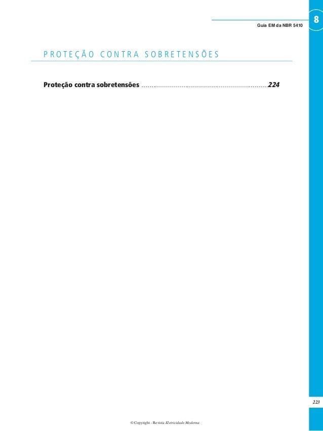 © Copyright - Revista Eletricidade Moderna 223 8Guia EM da NBR 5410 Proteção contra sobretensões . . . . . . . . . . . . ....