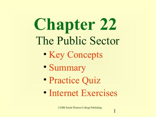 Chapter 22The Public Sector • Key Concepts • Summary • Practice Quiz • Internet Exercises    ©2000 South-Western College P...