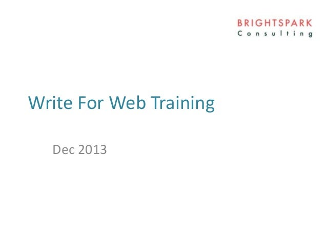 08 How To Write For Web