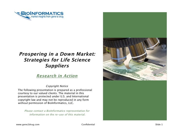 Webinar: Prospering in a Down Market: Strategies for Life Science Suppliers