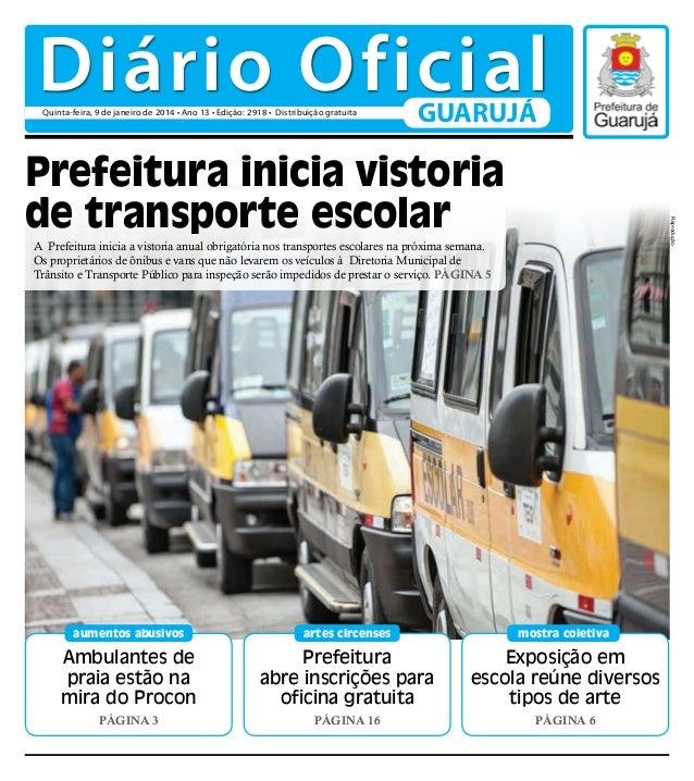 Diário Oficial do Dia - 09/01/2014