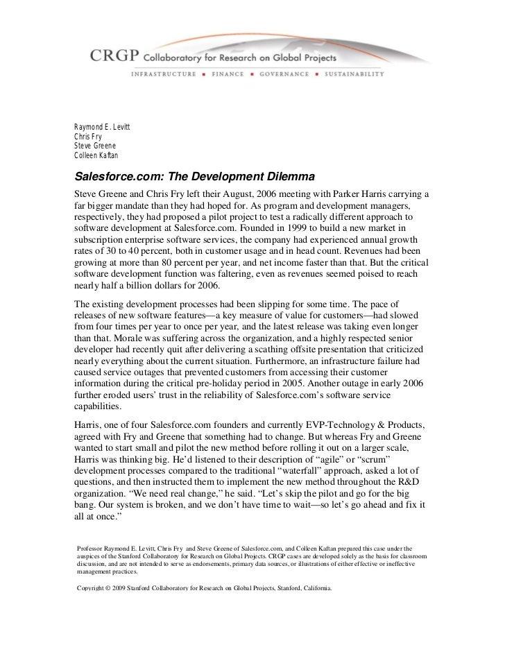 Stanford Case Study - Salesforce.com Transformation