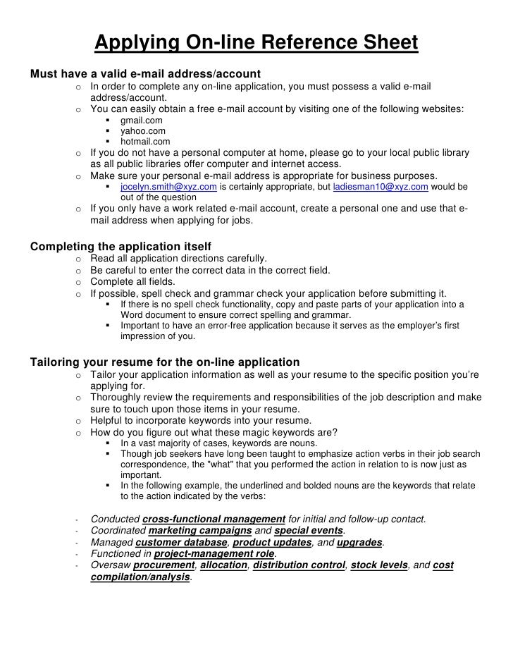 09 02-10 - applying on-line reference sheet