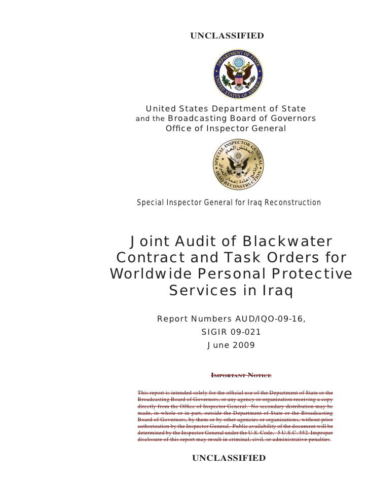 FindLaw | Blackwater Overpaid for Its Contracts, Audit Finds