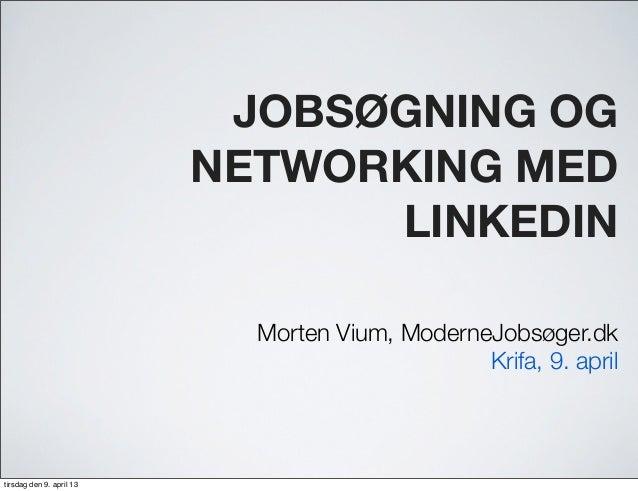 LinkedIn foredrag i Krifa