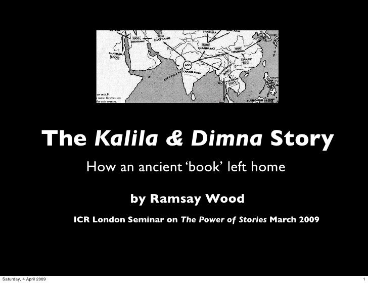 Kalila & Dimna Story @ Institute for Cultural Research 28/3/09
