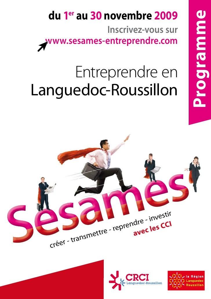 Sésames Entreprendre 2009- présentation