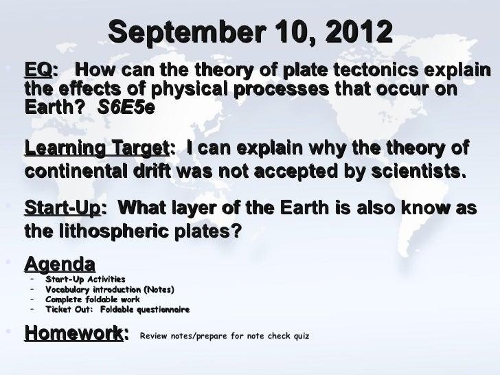 09 10-12  plate tectonics