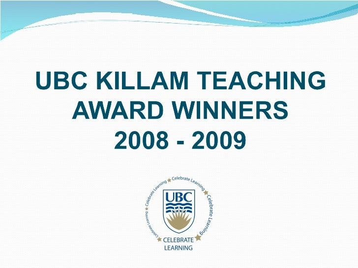 Killam Awards