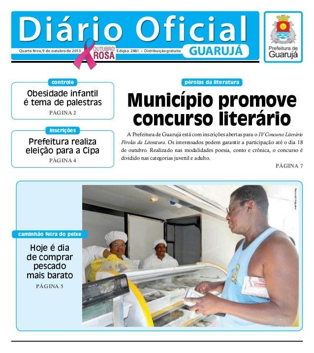 Prefeitura realiza eleição para a Cipa Página 4 inscrições pérolas da literatura Obesidade infantil é tema de palestras Pá...