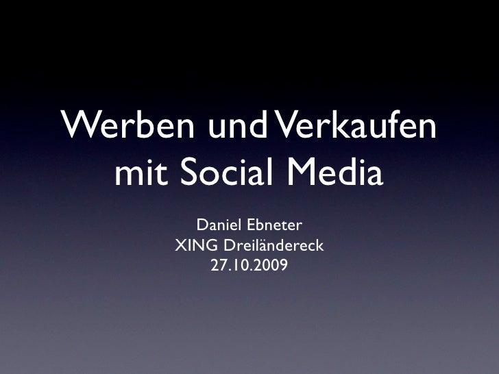 Werben und Verkaufen mit Social Media