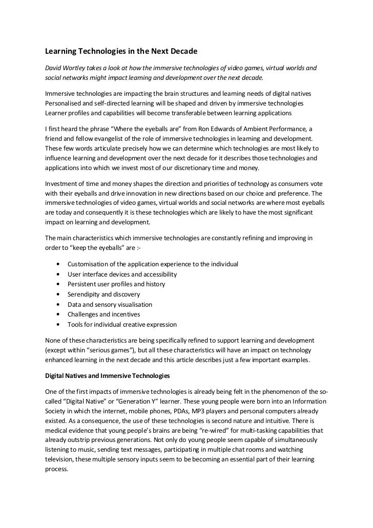 09 12-18 learning technologies in the next decade