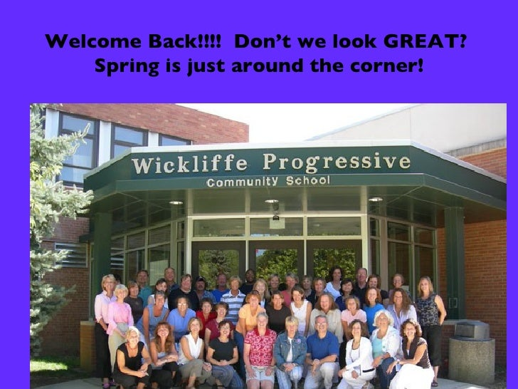 Welcome Back!!!!  Don't we look GREAT?  Spring is just around the corner!