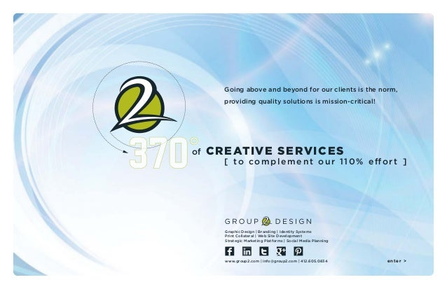 of Going above and beyond for our clients is the norm, providing quality solutions is mission-critical! CREATIVE SERVICES ...