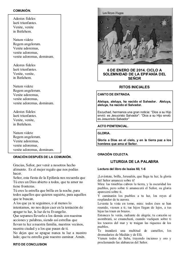 09. guión de la misa de los reyes magos.ciclo a. dia 6 de enero del 2014