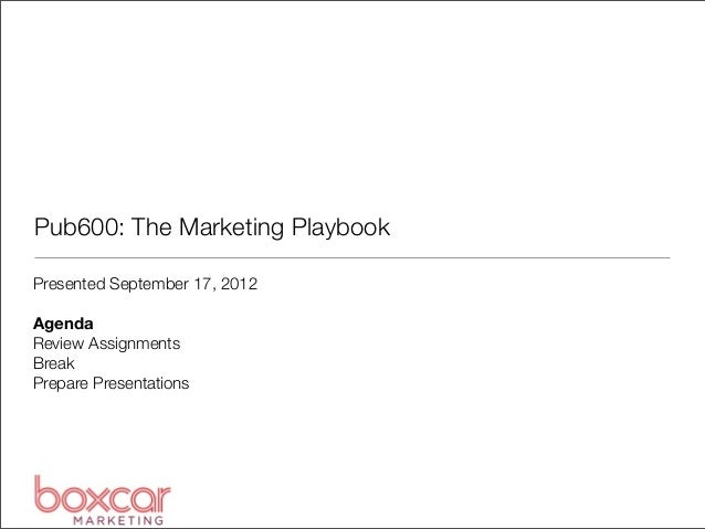Pub600: Marketing Planning