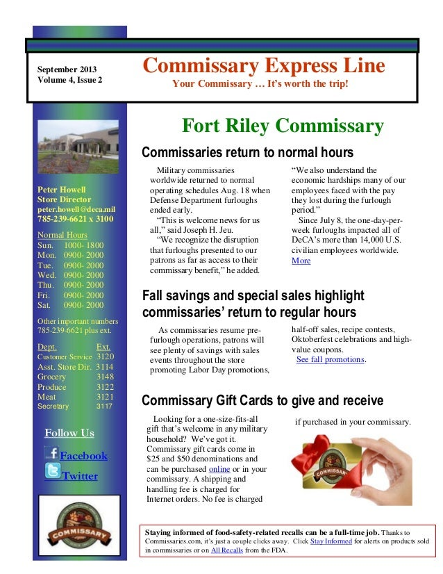 September 2013 Fort Riley Express Line