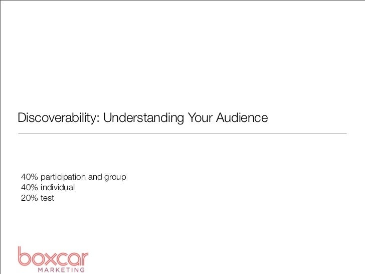 Pub355: Discoverability: Understanding Your Audience