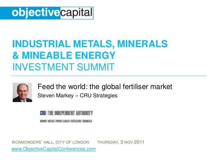 Feed the world: the global fertiliser market