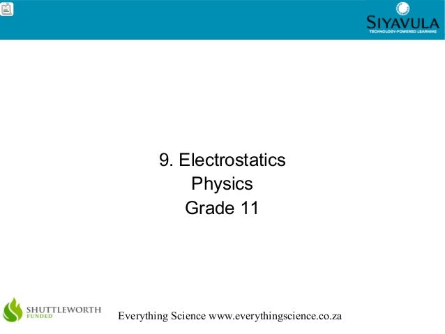 Electrostatics - grade 11