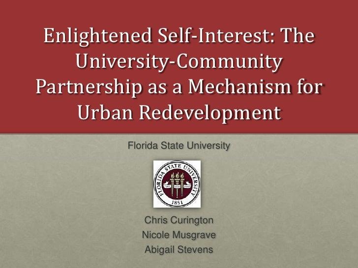 9/9 FRI 2:45 | Enlightened Self-Interest - Univ-Comm. Partnerships 1