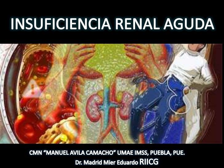 insuficiencia renal aguda cronica pediatria: