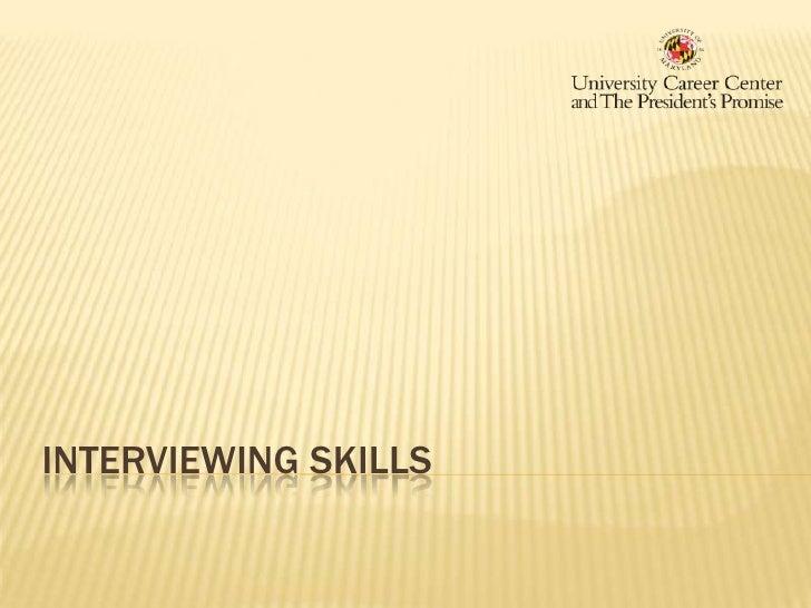 Interviewing Skills<br />