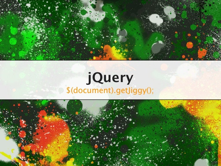 Introduction to jQuery - College Lecture