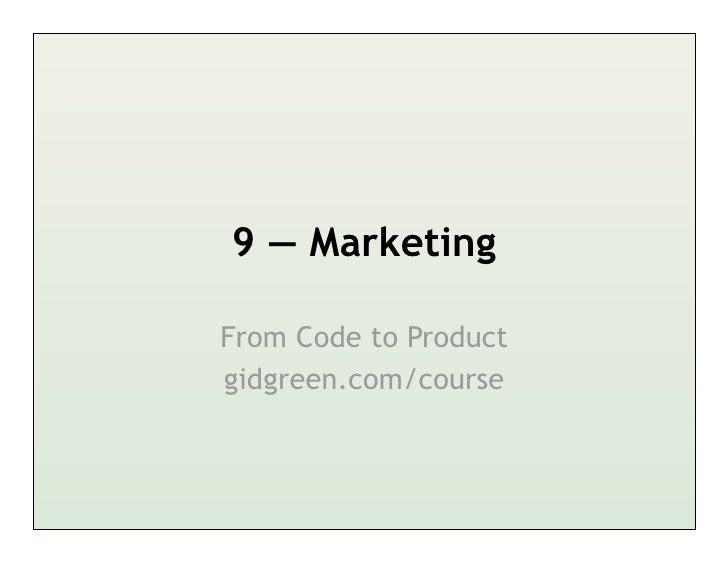 Marketing for Startups