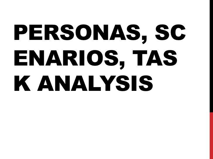 PERSONAS, SCENARIOS, TASK ANALYSIS