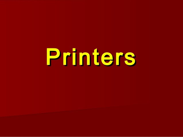09   printers