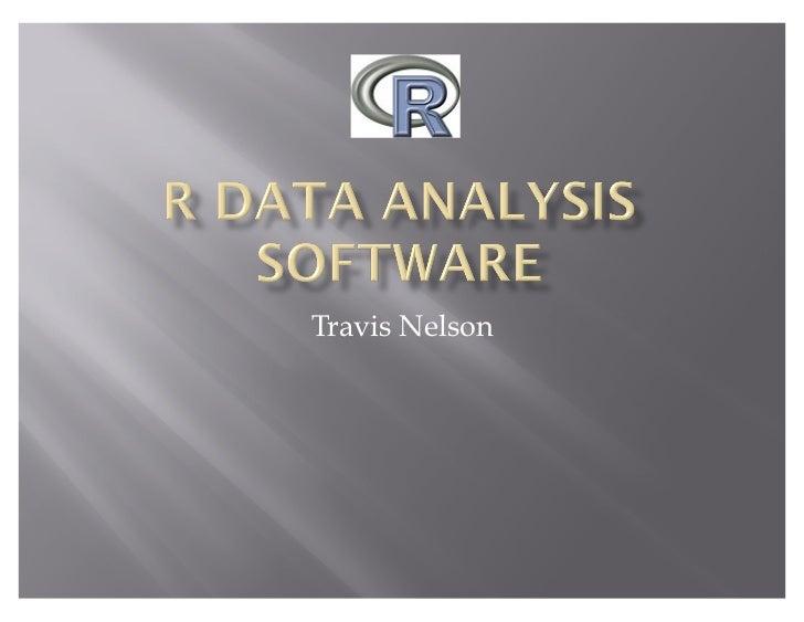 R Data Analysis Software