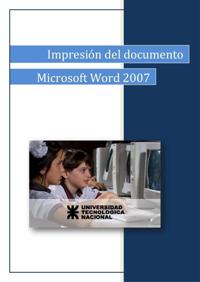 Impresión del documento Microsoft Word 2007