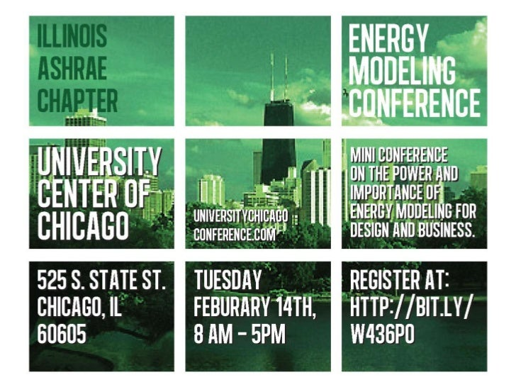 Chicago Energy Modeling Conference Welcome Address