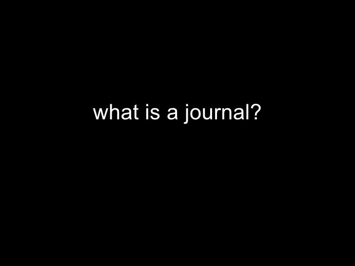 what is a journal?