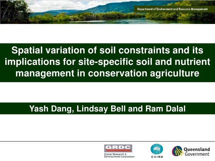 Spatial variation of soil constraints and its implications for Soil use and management