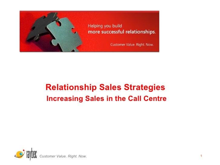 <ul><li>Relationship Sales Strategies  </li></ul><ul><li>Increasing Sales in the Call Centre </li></ul>