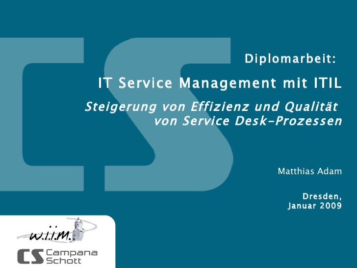 IT Service Management mit ITIL