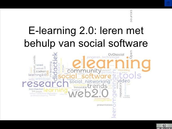 E-learning 2.0: leren met behulp van social software