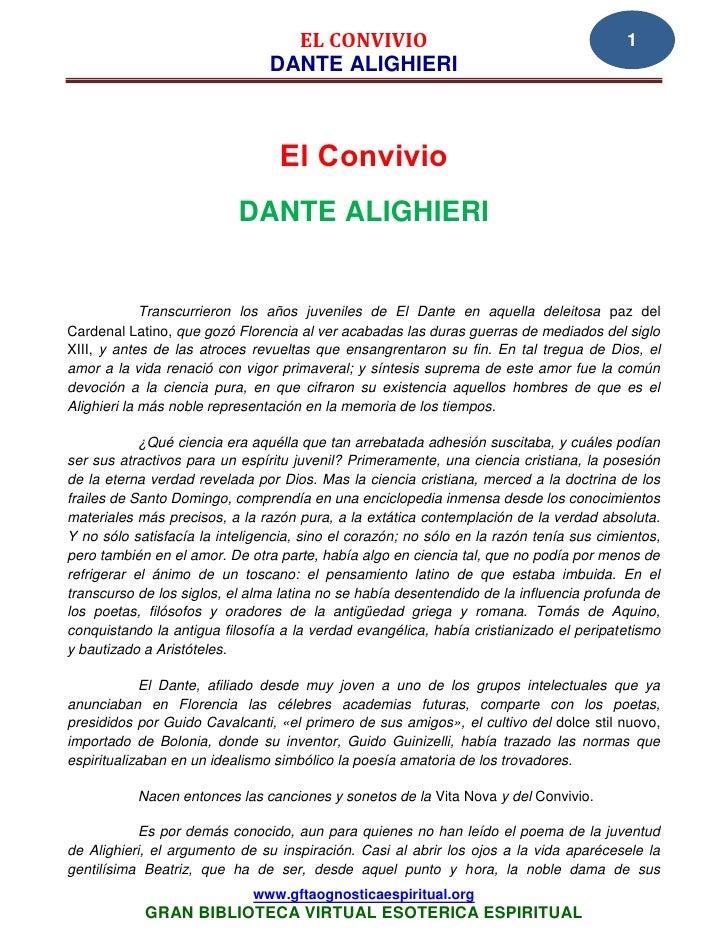 09 01 el convivio dante alighieri  www.gftaognosticaespiritual.org