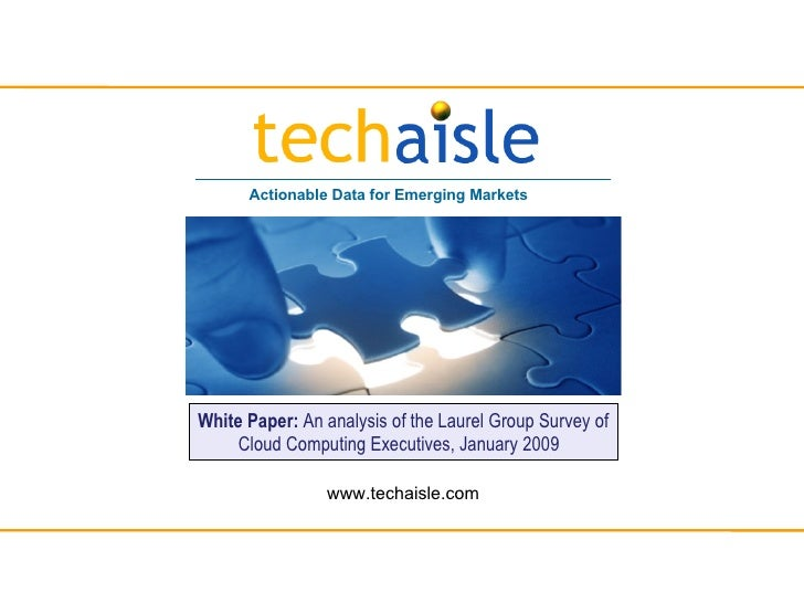 Actionable Data for Emerging Markets     White Paper: An analysis of the Laurel Group Survey of      Cloud Computing Execu...