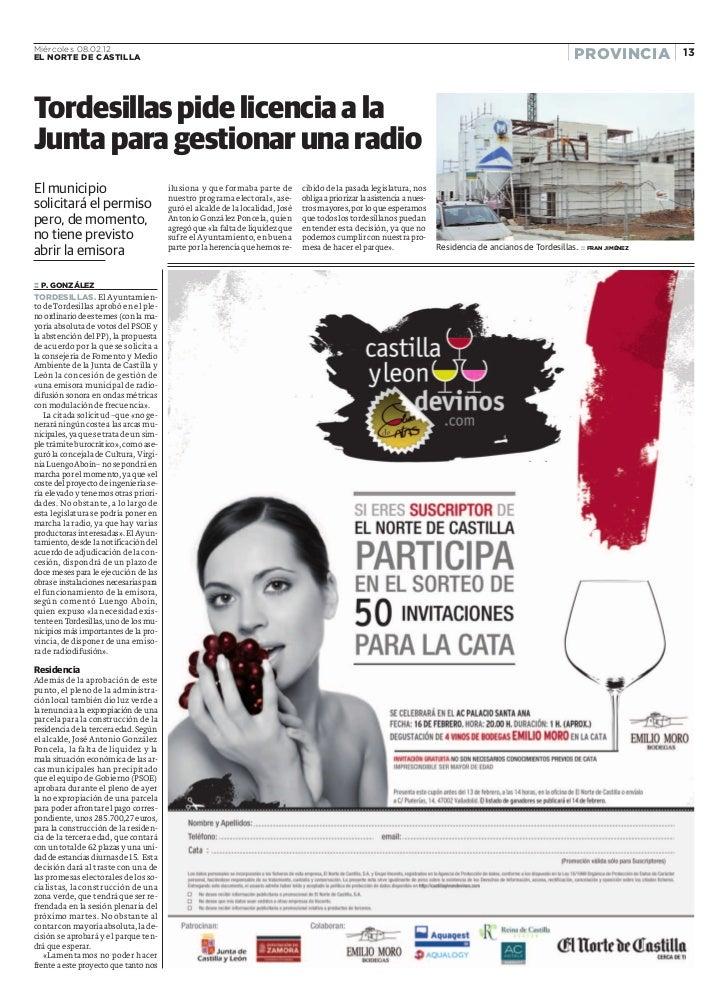 Miércoles 08.02.12EL NORTE DE CASTILLA                                                                                    ...